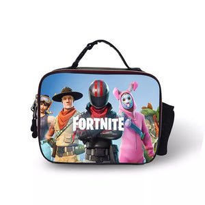 Fortnite Burnout Portable Insulated Lunch Box School Carry Tote Storage Picnic Bag Case For Boy Kids