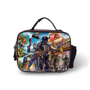Fortnite Dark Voyager Portable Insulated Lunch Box School Carry Tote Storage Picnic Bag Case For Boy Kids