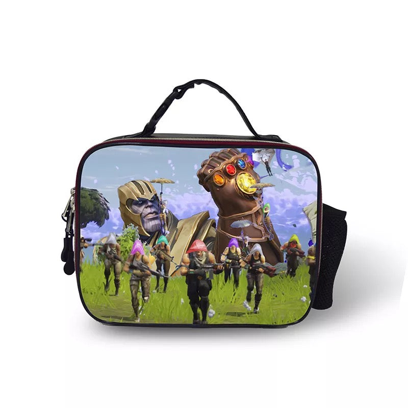 Fortnite Thanos  Portable Insulated Lunch Box School Carry Tote Storage Picnic Bag Case For Boy Kids