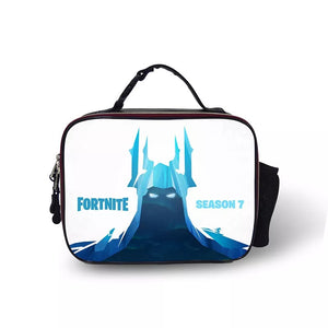 Fortnite Season 7 Portable Insulated Lunch Box School Carry Tote Storage Picnic Bag Case For Boy Kids