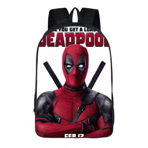 Deadpool Marvel Backpack School Supplies Satchel Casual Book Bag School Bag for Kids Boy Girls Backpack Junior Bag