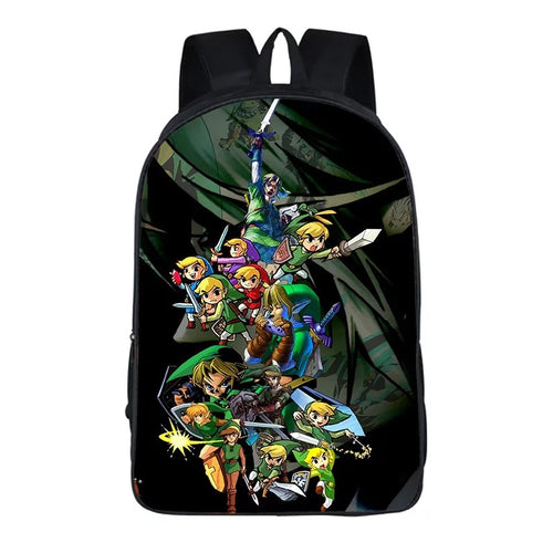 The Legend of Zelda Backpack School Supplies Satchel Casual Book Bag School Bag for Kids Boy Girls Backpack Junior Bag