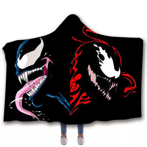 Venom Travel Coral Fleece Soft Custom Flannel Blanket  Portable Throw
