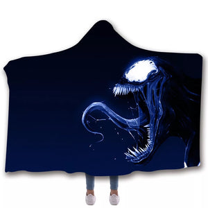 Venom Travel Coral Fleece Soft Custom Flannel Blanket  Portable Throw Cosplay Costume