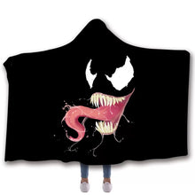 Load image into Gallery viewer, Venom Travel Coral Fleece Soft Custom Flannel Blanket  Portable Throw Cosplay Costume