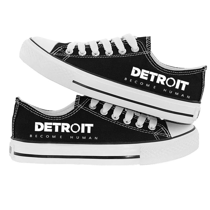 Detroit Become Human Cosplay Shoes Casual Canvas  Sneakers Unisex