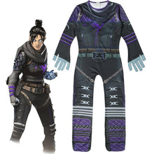 Load image into Gallery viewer, 2019 Game Apex legends Ghost Spirit Wraith Cosplay Jumpsuit For Kids