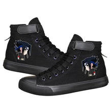Load image into Gallery viewer, Anime Naruto Uchiha Sasuke High Tops Casual Canvas Shoes Unisex Black Sneakers