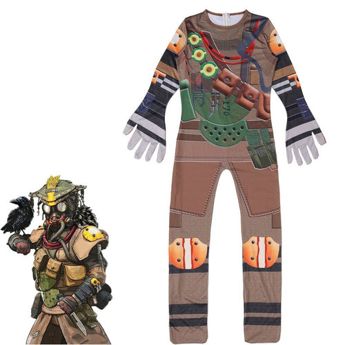 Game Apex legends Bloodhound Cosplay Jumpsuit For Kids