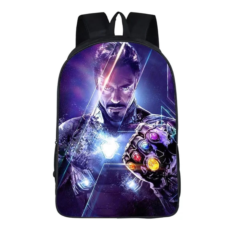 Avengers 4 Endgame Ironman Backpack Bag School Sport