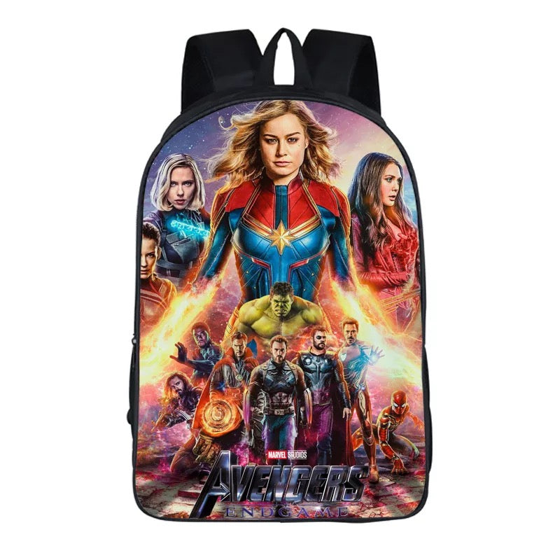 Avengers 4 Endgame Backpack Bag School Sport Captain Marvel
