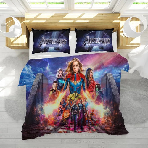 Avengers 4 Endgame Captain Marvel Bedding Set Duvet Cover Set Bedroom Set Bedlinen 3D Bag