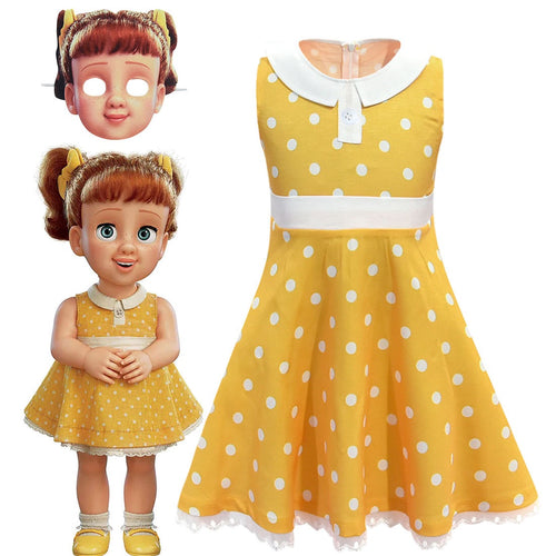 Toy Story 4 Gabby Dress Cosplay Costume Kids Sleeveless Casual Clothing Child Summer Mini Dress