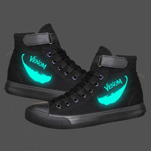 Load image into Gallery viewer, Venom Superhero High Top Sneaker Cosplay Shoes For Kids Luminous
