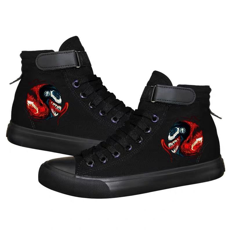 Venom Superhero High Top Sneaker Cosplay Shoes For Kids