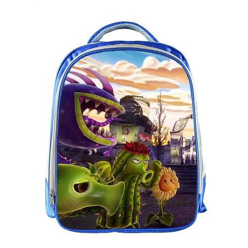 Plants VS Zombies Children Bag Backpack Shoulder Schoolbag For Kids
