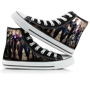 Avengers Endgame Quantum Realm High Tops Casual Canvas Shoes Unisex Sneakers For Kids