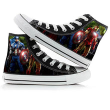 Load image into Gallery viewer, Avengers Endgame Captain America High Tops Casual Canvas Shoes Unisex Sneakers For Kids