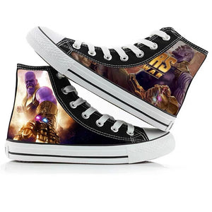 Avengers Endgame Thanos Infinity Gauntlet Glove High Tops Casual Canvas Shoes Unisex Sneakers For Kids