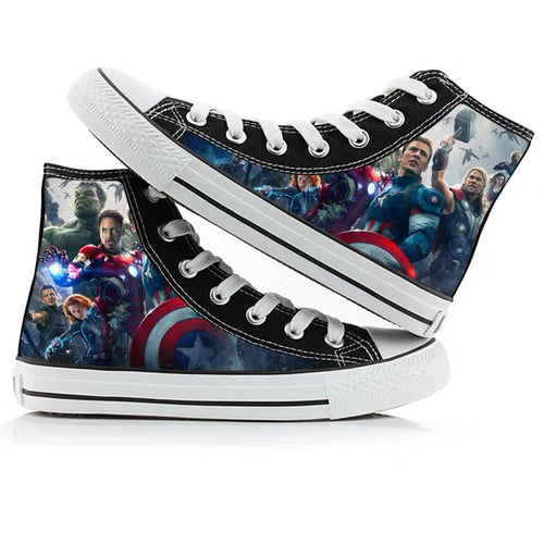 Avengers Endgame Thor High Tops Casual Canvas Shoes Unisex Sneakers For Kids