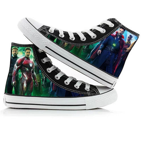 Avengers Endgame Doctor Strange High Tops Casual Canvas Shoes Unisex Sneakers For Kids