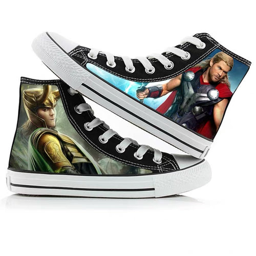 Avengers Endgame Thor Loki High Tops Casual Canvas Shoes Unisex Sneakers For Kids