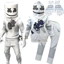 Load image into Gallery viewer, Fortnite Marshmello DJ Party Sweatshirts Cosplay Costume Full Set For Kids