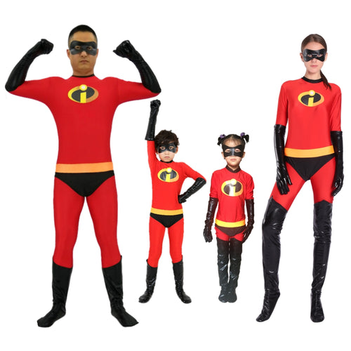 The Incredibles 2 Mr Mrs Incredibles Bodysuit Jumpsuit Halloween Cosplay Costumes For Kids Adults