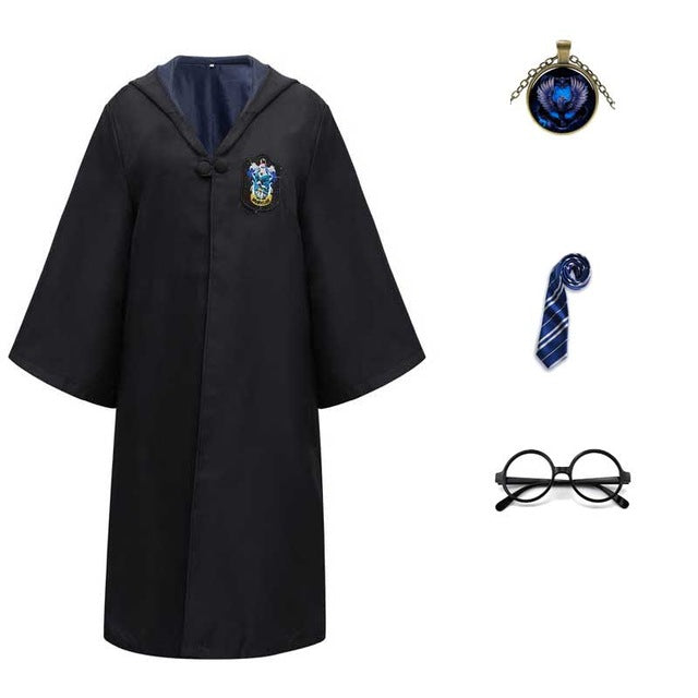 Harry Potter #15 Cosplay  Robe Cloak Clothes Ravenclaw Quidditch Costume Magic School Party Uniform