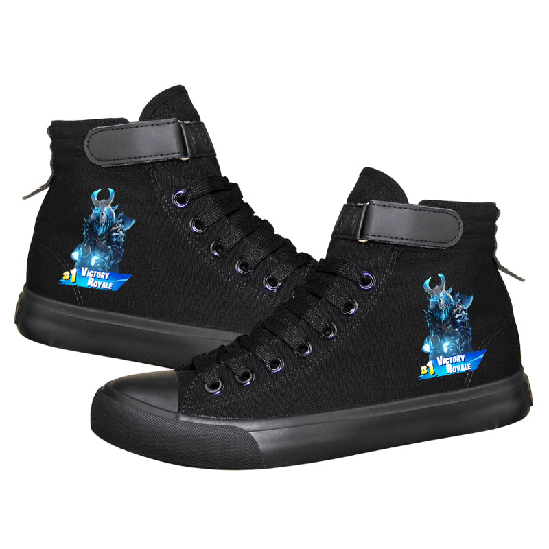 Game Fortnite Victory Royale High Top Sneaker Cosplay Shoes