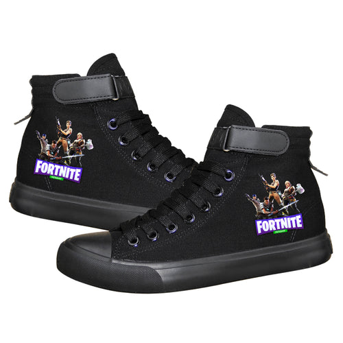 Game Fortnite Battle Royale High Top Sneaker Cosplay Shoes For Kids