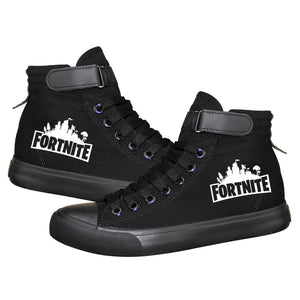 Game Fortnite High Top Sneaker Cosplay Shoes For Kids