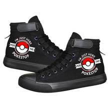 Load image into Gallery viewer, Anime Pocket Monster Pokemon Go Pikachu High Tops Casual Canvas Shoes Unisex Sneakers