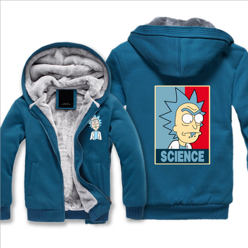 Rick And Morty Fleece Hoodie  For Men