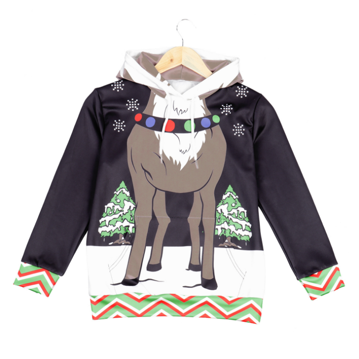 Ugly Christmas Reindeer Sweater Pullover For Kids
