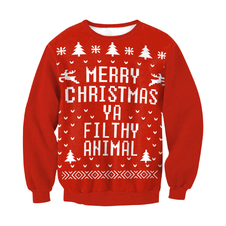 Merry Christmas Ya Filthy Animal Sweater Ugly Christmas Pullover