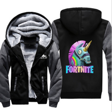 Load image into Gallery viewer, Game Fortnite Unicorn Cosplay Hoodie Wool Fleece Coat For Adults