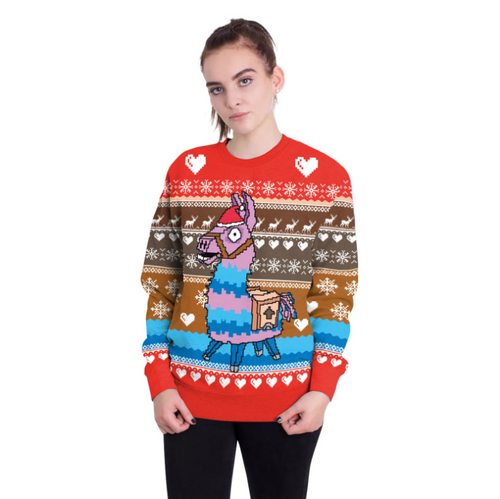 Fortnite Llama Sweater Ugly Christmas