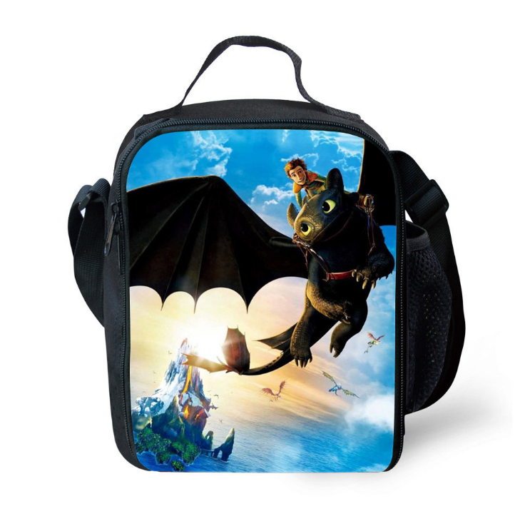 How to Train Your Dragon 3 The Hidden World Insulated Lunch Bag for Boy Kids Thermos Cooler Adults Tote Food Lunch Box