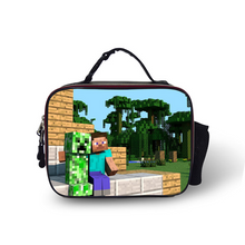 Load image into Gallery viewer, Minecraft Insulated Lunch Bag for Boy Kids Thermos Cooler Adults Tote Food Lunch Box
