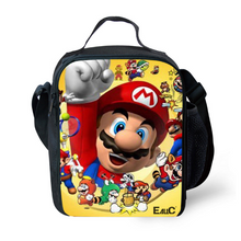 Load image into Gallery viewer, Mario Insulated Lunch Bag for Boy Kids Thermos Cooler Adults Tote Food Lunch Box
