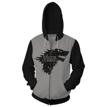 Load image into Gallery viewer, Game of Thrones  Men Women Hoodie Sweatshirt Sweater Zipper Jacket Coat