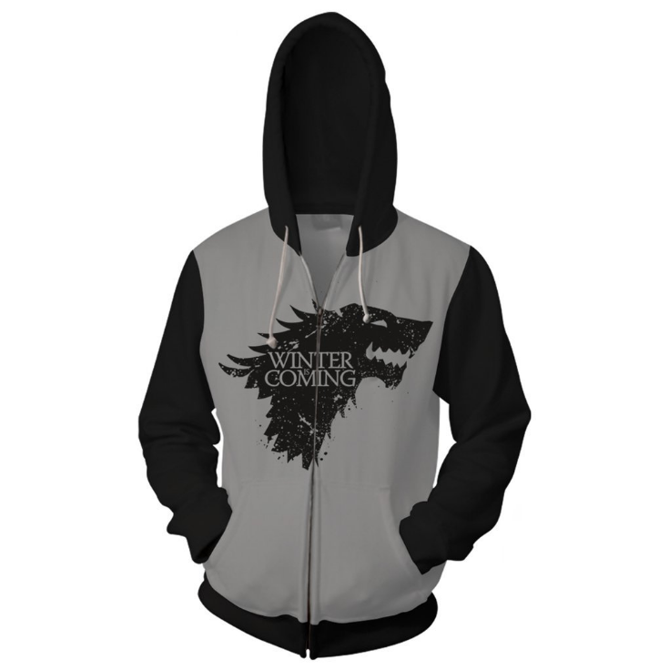 Game of Thrones  Men Women Hoodie Sweatshirt Sweater Zipper Jacket Coat