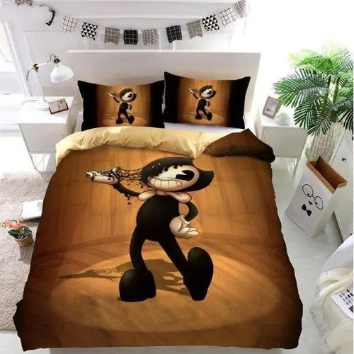 Bendy And The Ink Machine #1 Bedding Set Duvet Cover Set  Pillow Cover Bedroom Set Bed Linen