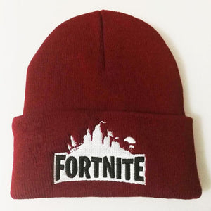 Fortnite Embroidered Woolen Hat Winter Knitted Hat Warm Hip-hop Cap