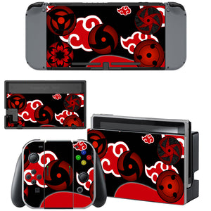 Anime Naruto Akatsuki Uchiha Sharingan for Nintendo Switch Console Joy-Con Skin