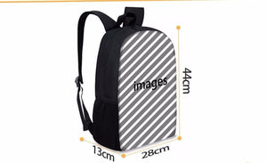 Anime Black Cover Backpack School Sports Bag 19