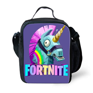 Game Fortnite Battle Royale Lunchbox Bag Lunch Box Unicorn Game Skin Xbox