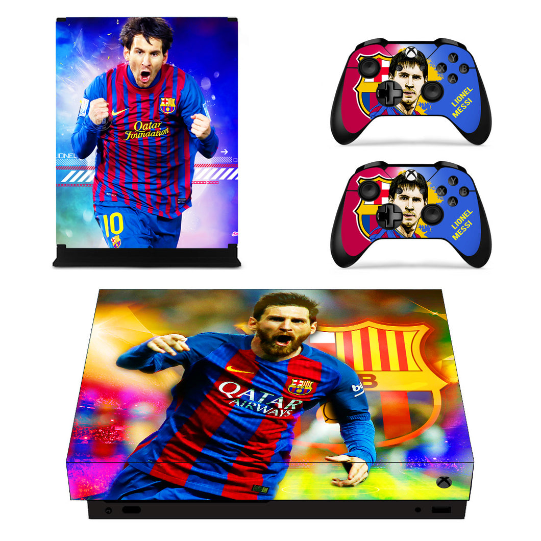 Xbox one X Console Vinyl Skin Lionel Messi FC Football Club Skin Decals Stickers