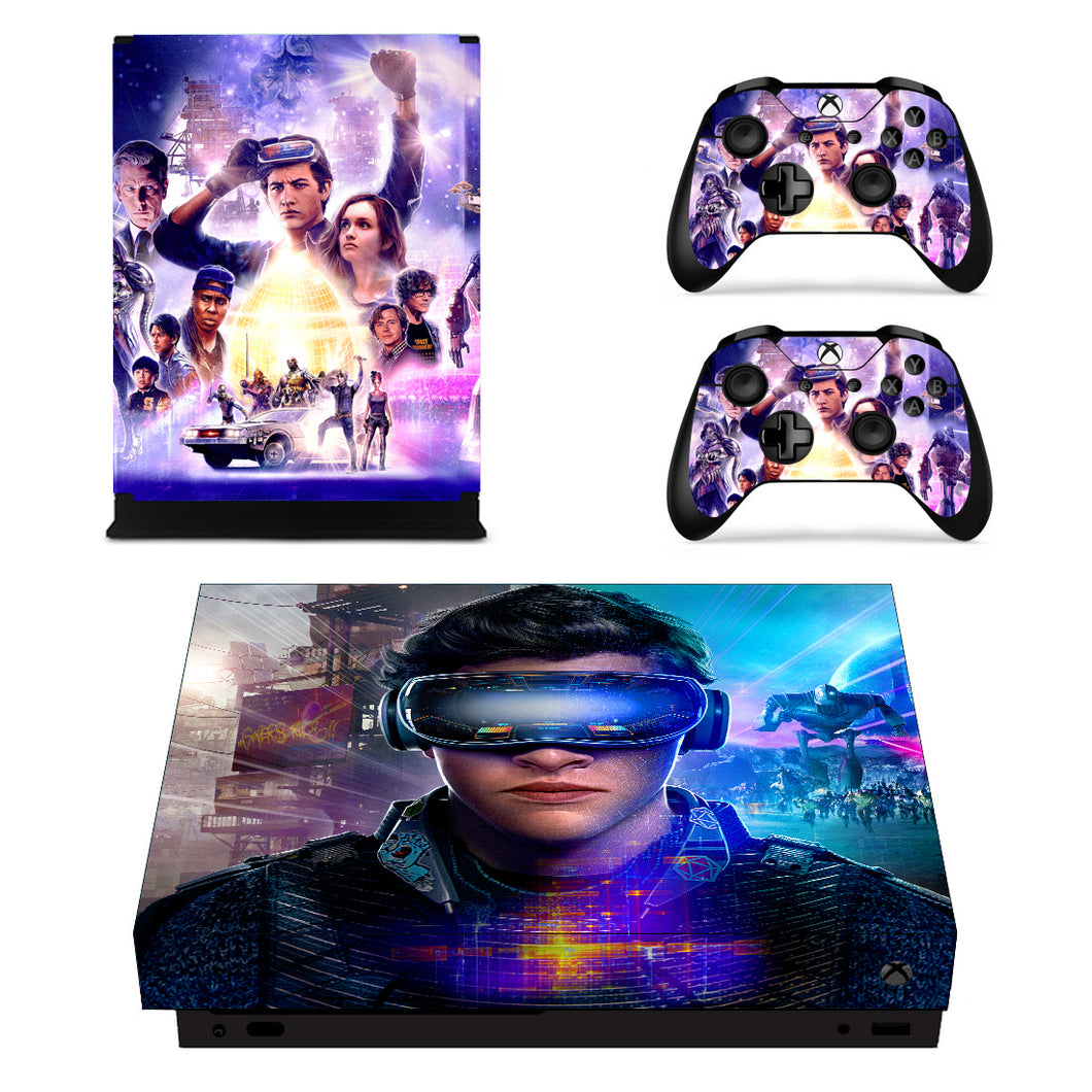 Xbox one X Console Vinyl Skin Ready Player One Skin Cover Decal Sticker Set Wrap